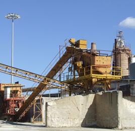 L'impianto di riciclo degli inerti in Calcitalia Sud